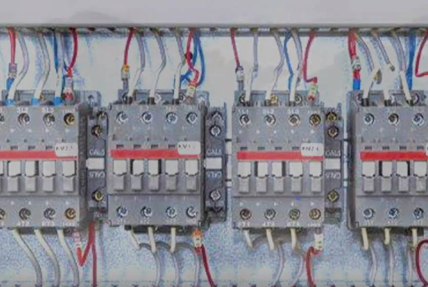 Most IEC contactors are mounted on rails.